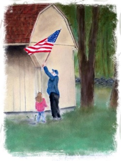 4th of July (pastel on pastel bord)
